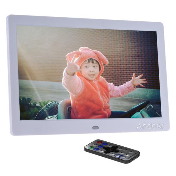 Andoer LCD Cadre photo numérique Cadre photo large écran HD 10