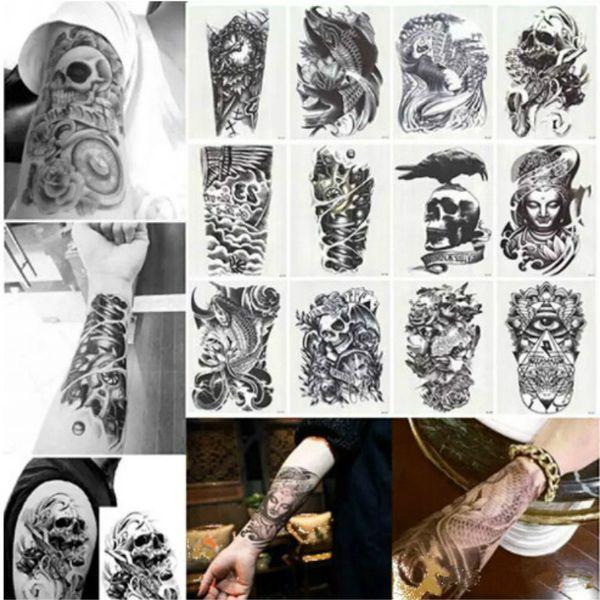 Nuevo Gran Tatuaje Temporal de Tatuajes de Arte Corporal Extraíble Etiqueta Engomada Del Tatuaje Impermeable Mezclado Enviado Al Azar Envío Gratis