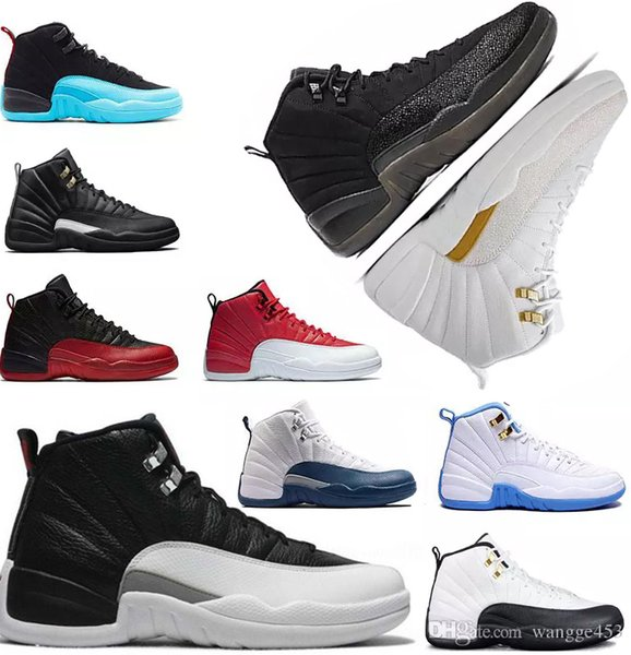 High Quality 12s 12 Basketball Shoes Mens White Black master GS Barons Wolf Grey flu game taxi playoff french blue gym red Sneaker