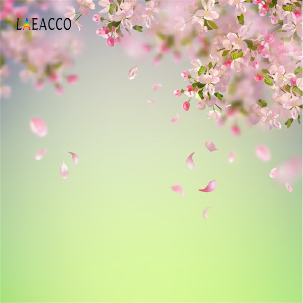 Flor de Laeacco pétalos de flores Bokeh bebé recién nacido Retrato Photo Backgrounds contextos fotográficos personalizados para Photo Studio
