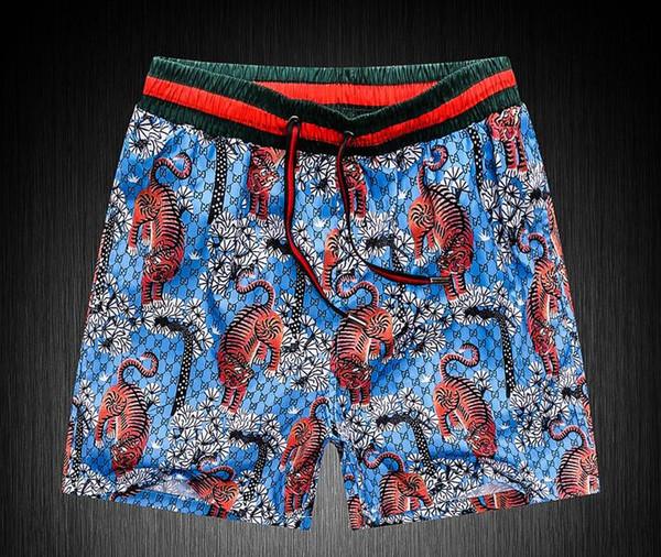 GOOD Board Shorts Mens Summer Beach Shorts Pants High-quality Swimwear Bermuda Male Letter Surf Life Men Swim Tiger sup Shorts g pants 8218