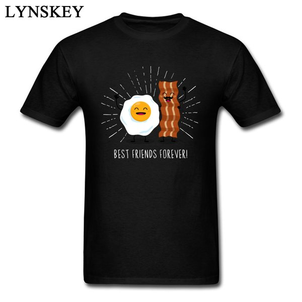 Egg & Bacon Best Friends Forever Funny Gift T-shirt For Men Group Customized Top Clothing 100% Cotton Breathable