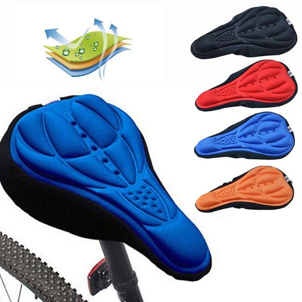 3D Soft Bike Saddle Bicycle Seat Accessories Cycling Silicone Seat Mat Cushion Seat Cover Saddle for a Bicycle Bike Parts
