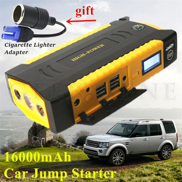 Mini Emergency Starting Device 16000mAh Car Jump Starter Power Bank Portable 12V 600A Car Charger For Battery Buster
