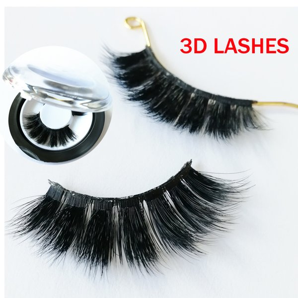 thick fake faux eyelashes high quality 3D faux Mink Hair Eyelashes Messy Sexy Eyelash Full Strip accept private label on stickers GR285