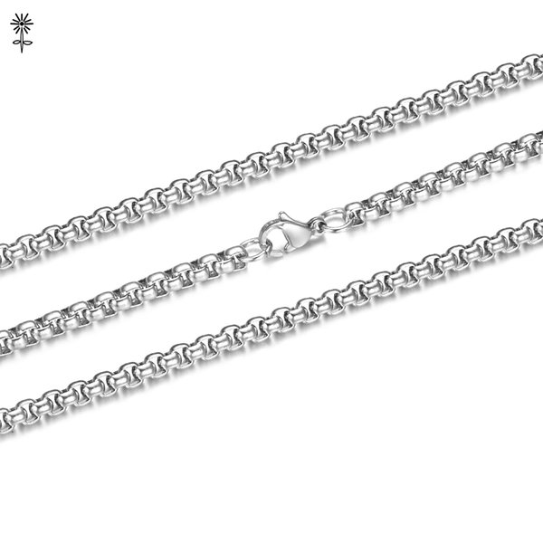 Wholesale 10pcs/lot 316 Stainless Steel Chains Necklaces and Bracelets Multi Sizes Jewelry with Lobster Claw Clasps S-005*10
