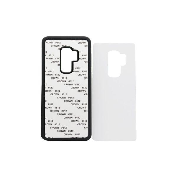 50 pcs Wholesale For Samsung S9 TPU rubber 2D sublimation case for Samsung S9 S9 plus case with aluminium metal sheet