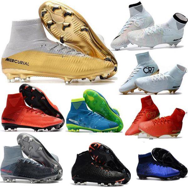 Mens Cristiano Ronaldo Cr7 Soccer Shoes Original Soccer Cleats Mercurial Superfly Champions Football Boots Magista Obra Football Shoes White Red Dhgate Com Imall Com