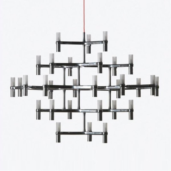 Crown MAJOR Design Duplex Villa LED Chandeliers Luminaires pendant Light Black/White/Chrome/Gold 12 heads 30 heads Branch Suspension Lamp