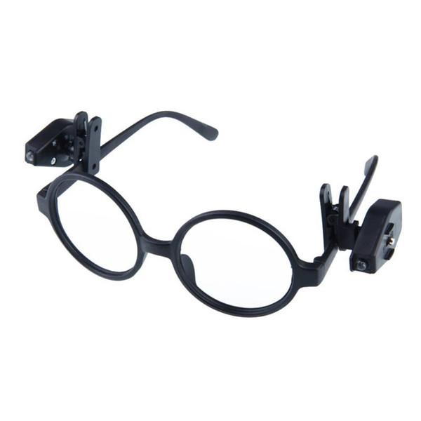 Novo Universal Flexível Lâmpada LED Clipe de Óculos Em Mini Luz de Leitura do Livro Luzes Crianças Para Óculos de Segurança Óculos