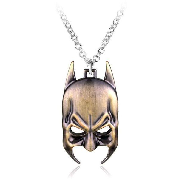 MOQ:10PCS Batman Mask Pendant Necklace The Avengers Marvel Comics Bruce Wayne Superhero Joker Metal Llavero Chaveiro For Men