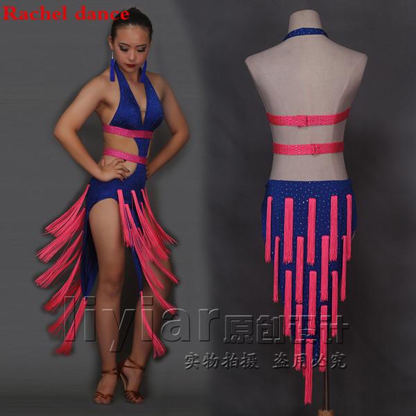 Abiti Da Cerimonia Latina.Acquista Costume Da Danza Latina Abito Da Donna Abito Da Cerimonia