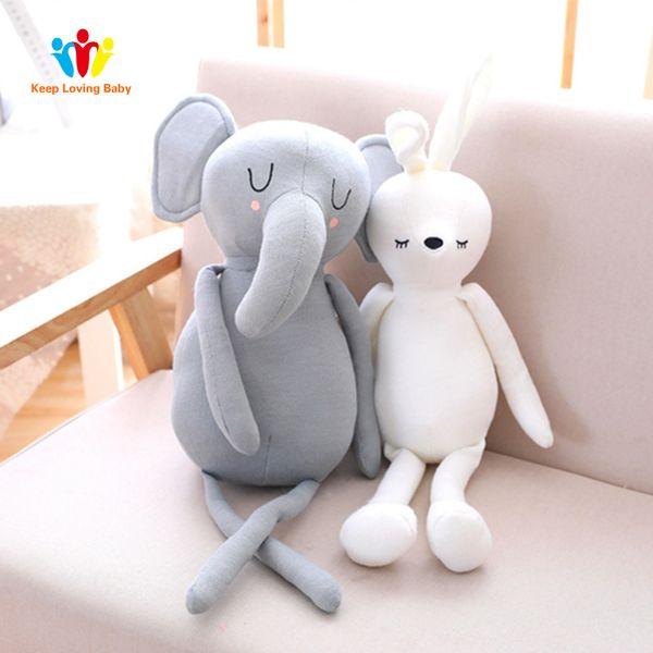 Baby sleep comfort pillow newborn Infant Toddler Sleep Pillow Elephant Bunny Plush Toy Children's room decoration Birthday Gift