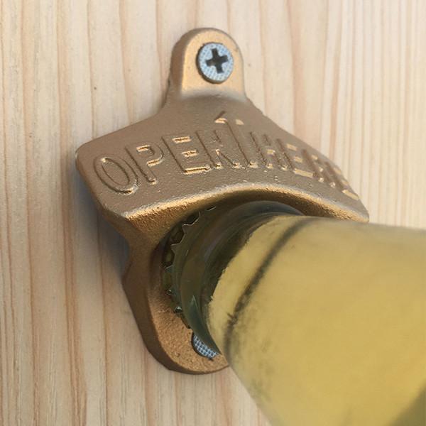 3 Farben Wand Flaschenöffner Vintage Gusseisen Wein Soda Beer Cap Opener Bar Werkzeuge Förderung Geschenk