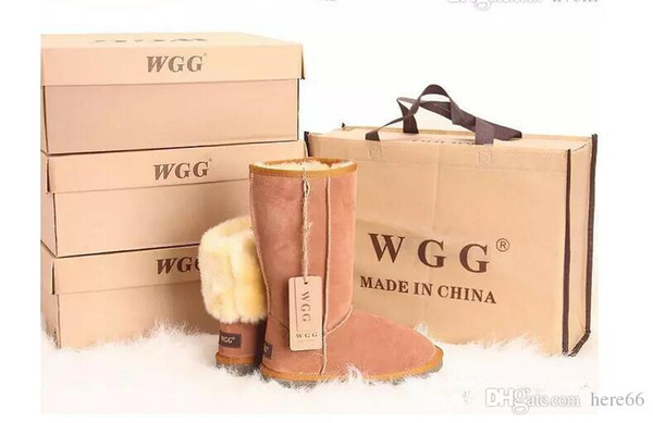 2018 High Quality Classic WGG Brand Women popular Australia Genuine Leather Boots Fashion Women's Snow Boots US5--US13 Free Shipping