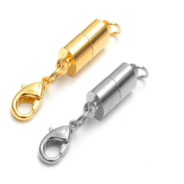 best selling newest Silver Gold Plated Magnetic Magnet Necklace Clasps Cylinder shaped Clasps for Necklace bracelet Jewelry DIY