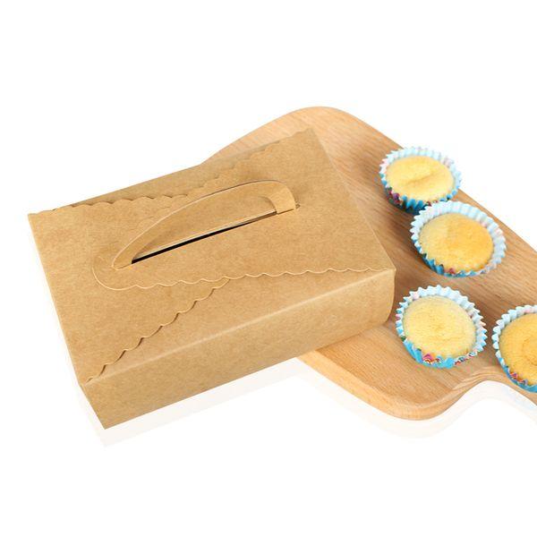 12Pcs Kraft Paper Cake Box,Christmas Wedding Box,For Macaron Gift Bakery Cookie Favor Cupcake Chocolate Packaging