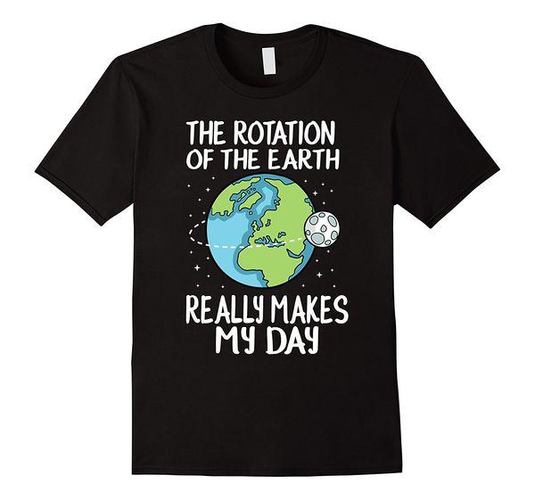 A rotação da terra faz minha camisa engraçada da