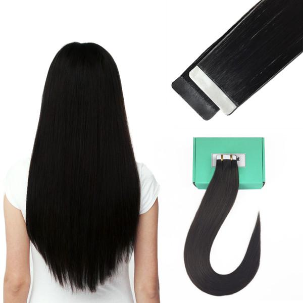 Remy-Band in den Haar-Erweiterungen 16 Zoll - 24 Zoll Haut-Schuss-Menschenhaar gerade 20pcs / set viele Farbe