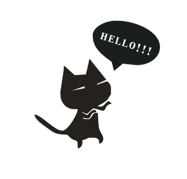Car Stickers Cartoon Cat Say HELLO Cat With English Letters Car Scratching Covers Shipping By Post 20Pcs/Lot
