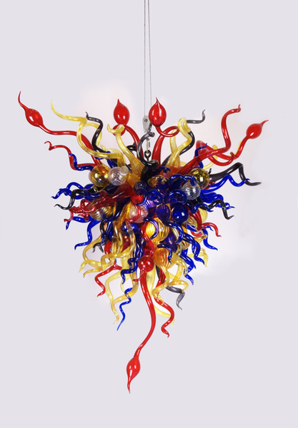 Lámpara de cristal soplada moderna del envío libre que se enciende para la decoración grande del hotel Lámpara en línea Colgante compras en línea