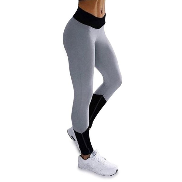 Women Patchwork Elastic Sport Leggings Yoga Pants Fitness Compression Sports Trousers Running Tights Gym Leggings Sport Clothing