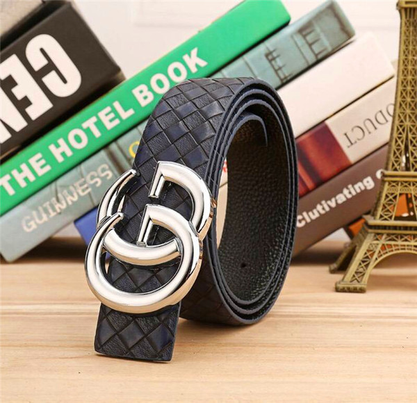 The latest classic Korean fashion belt men's personality fashion personality South Korea simple and easy decoration jeans smooth button belt
