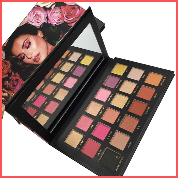 Factory direct dhl new beauty ro e gold rema tered eye hadow palette himmer matte 18 color hiqh quality makeup eye hadow palette