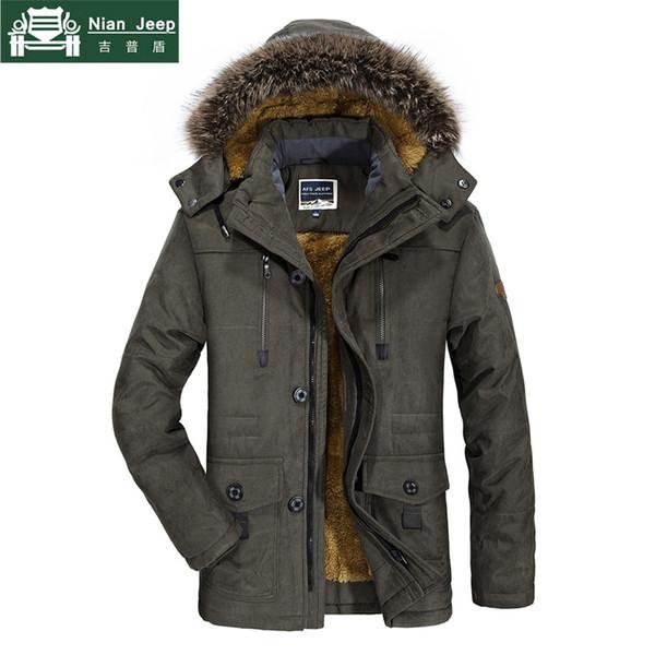 Plus Size 6XL 7XL Brand Winter Jacket Men Hooded Thick Warm Long Parka Male Fur Collar Cotton Outwear Windbreaker Mens Coats