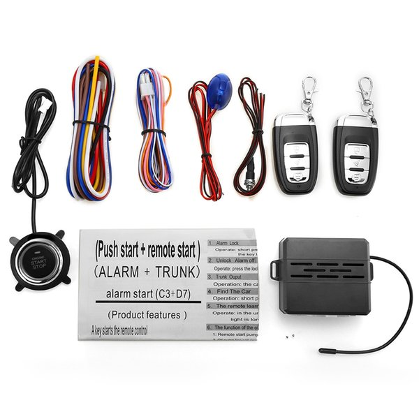 Universal 12V Car Alarm System Security Alarm Car Anti-Theft System Central Locking With Remote Control Switch Lock Visual