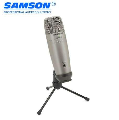 Samson C01U Pro USB Studio Condenser Microphone Real-time Monitoring Large Diaphragm Condenser for Broadcasting Music Recording