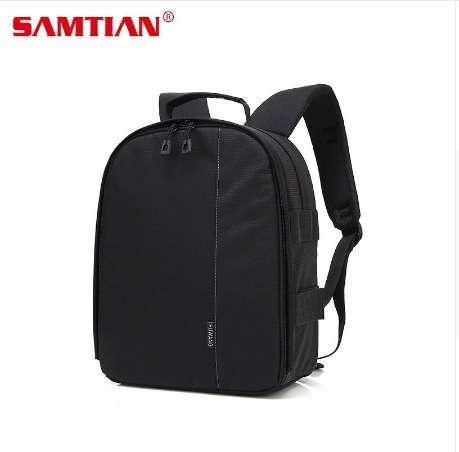 SAMTIAN Kamera-Rucksack-wasserdichte digitale DSLR-Kamera-Videotasche w / Regen-Abdeckungs-Multifunktionskamera-weiche Taschen-Video-Fall