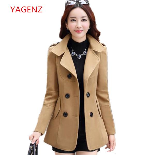 Fashion Ladies woolen coat Winter cloths for women Imitation of cashmere South korea clothing Winter wool jacket woman K3507 S115