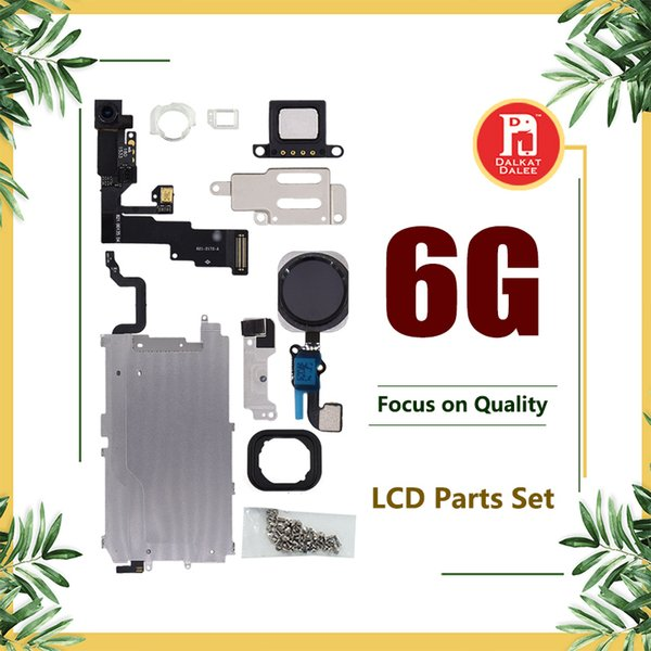 Iphone 6 için LCD Onarım Parçaları Metal Plaka Ön Kamera Seti Vidalar Kulaklık ev düğme Flex 6G Için Tam Set Tamir Parçaları