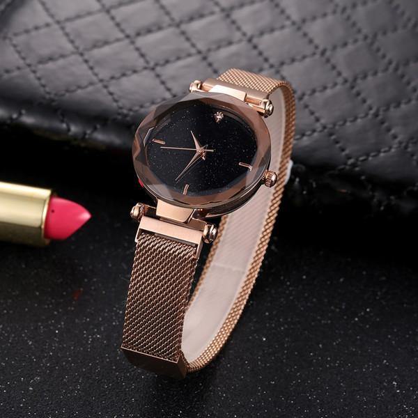 Quarz-Uhrenbox-Armband der Art und Weisemarken-Frauenstahlgürtel wasserdichte wasserdichte Luxuxuhr eingestellt