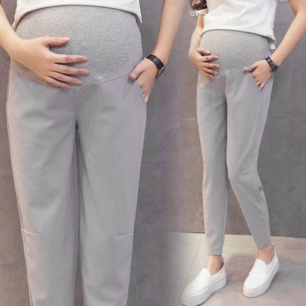 68d8f4fd8cc 918  8 Colors Summer Fashion Maternity Turnip Pants 9 10 Length Belly Pants  Clothes
