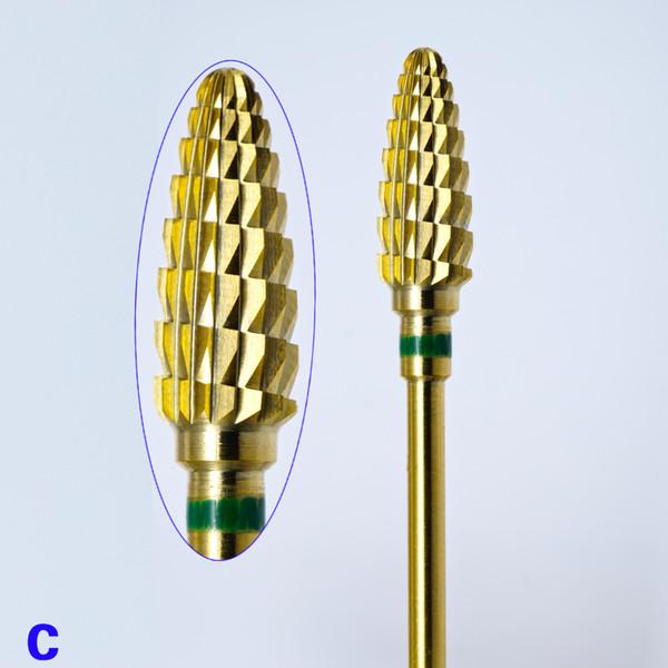 bit for 1 STKS Hardmetalen Bramen gold Coating Boor 3/32 \
