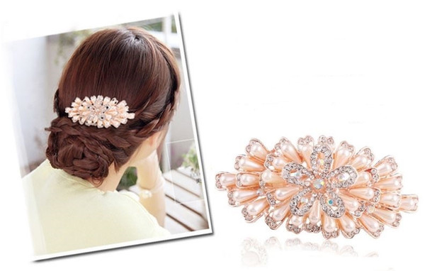 2018 diamond / Pearl large hairpin, crystal hairpin, Korean version, horizontal clip hair accessories, 7 styles are available, factory direc