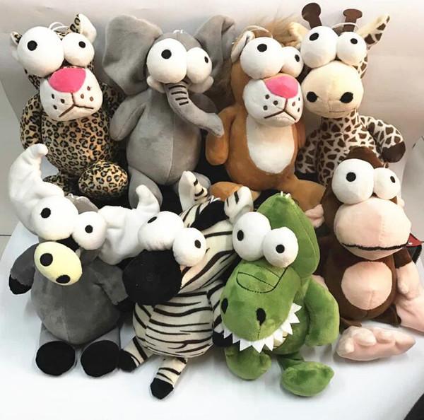 Big Eye Animal Plush Toys Forest Series Bambola Giraffa Bambole carino Invia regalo di compleanno per bambini gratis