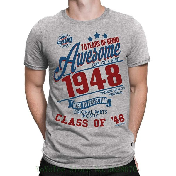 Acquista 70 Anni Di Essere Impressionante Mens 70th T Shirt Class Of 1948 Regalo Di Compleanno Invecchiato Alla Perfezione Da Stampa T Shirt Da Uomo