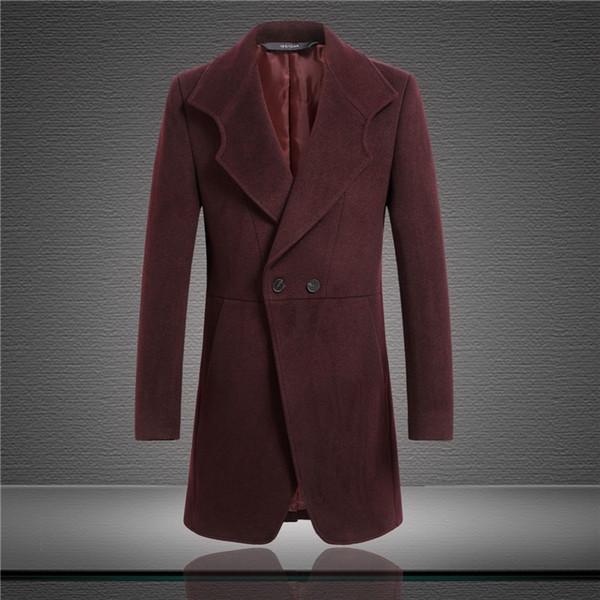 Mittellange Wolle Farbe Herren Männlicher Xiatian7 Kleidung Mantel Großhandel Tailor Zweireiher Reine Von Made Männer Lange Tuch Modische PkTZXiOu
