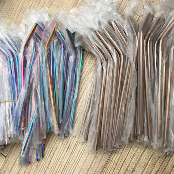 best selling Stainless Steel Drinking Straw for Mugs Reusable Eco Metal Straws Straight Bend Smoothie Straws For Coffee Beer Party Bar Accessorie