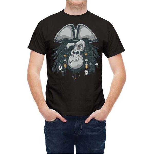 T-shirt Korsan Ape Başkanı Maskot T25335 Karikatür t gömlek erkekler Unisex Yeni Moda tshirt Gevşek Boyutu üst ajax