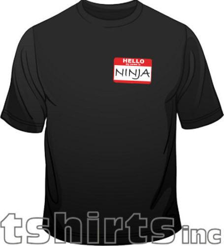 Details zu Hello Mon Prénom Est Ninja Arts Martiaux Nouveauté Amusant Homme Coupe Standard Funny free shipping Unisex Casual