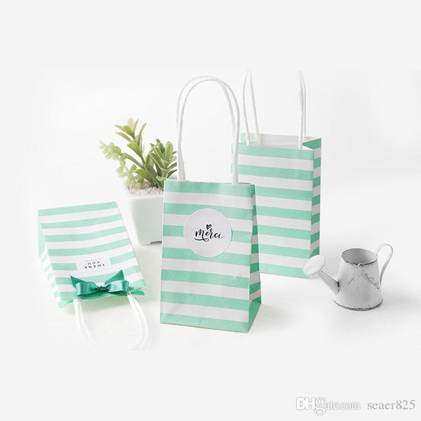 Blue bag & Ribbon & Sticker