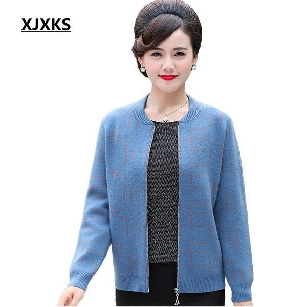 94808cddc870 XJXKS roupas feminina cardigan mulheres blusas casaco plus size lã e  cashmere de malha camisola das
