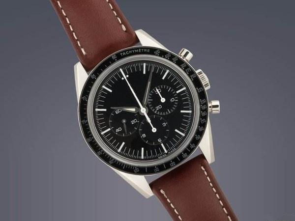 Klassischer Geschäftsart-Uhr-Uhr des automatischen Bewegungsmannes Luxusuhr-Edelstahlarmbanduhrschwarz-Gesichtslederband 043