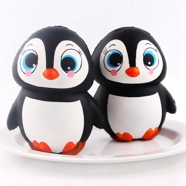 best selling Kawaii Squishy Slow Rising Simulation Female Penguin Squishy Decompression Squeeze Vent Female Penguin Squishies Home Decoration AL0002