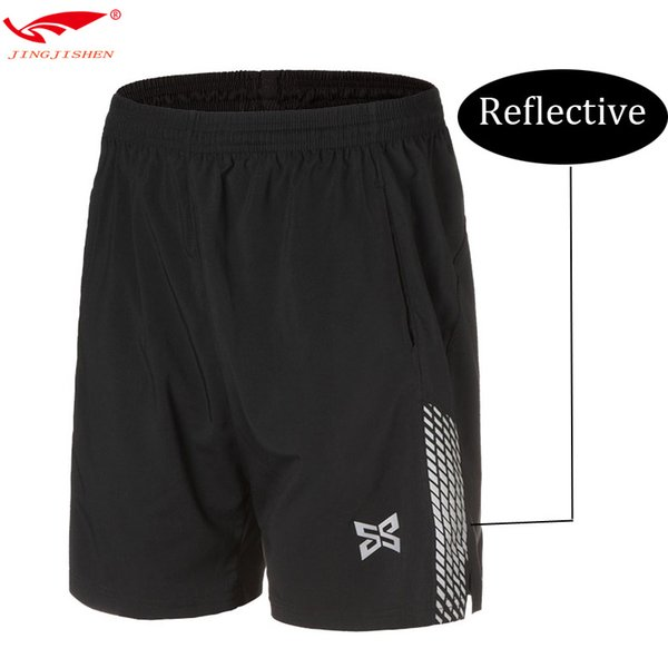 High quality men shorts running tights soccer reflective compression running shorts fitness basketball tennis training
