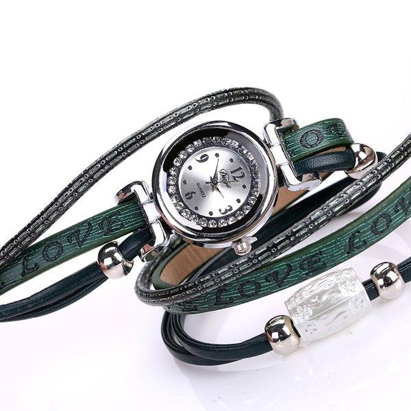 Trendy Damen Quarz Uhren Kreis Wrap Around Analog Quarz Armband Uhr Einfache Design Mode Damen Armbanduhr